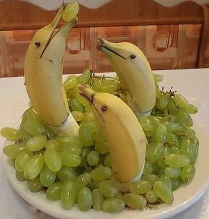 Как сделать из фруктов и овощей фигурку